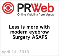 Less Is More with Modern Eyebrow Surgery ASAPS